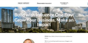 Build With Influence homepage