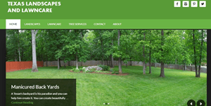 landscapes lawncare homepage