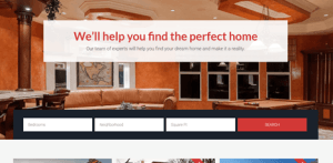 real estate agent homepage
