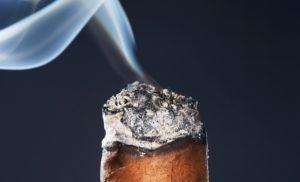 premium cigar smoking